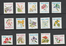 Brazil 2964 - 1990 FLOWERS  Definitive set of 15 complete unmounted mint