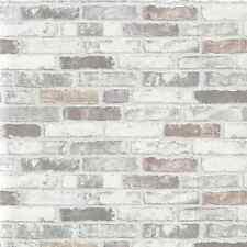 ERISMANN EMBOSSED GREY WHITE BRICK WALL PASTE THE WALL VINYL WALLPAPER 6703-10