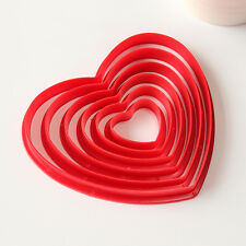 6pcs/Set Heart-shaped Cookie Cutter Biscuit Cake Pastry Set Pack Egg Mould