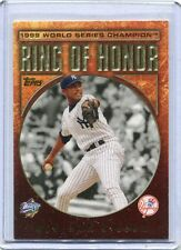 2009 Topps Ring Of Honor Card Mariano Rivera Pitcher  Yankees NEAR MINT  # RH 44