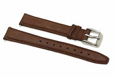 14MM BROWN TIMBERLAND PADDED SOFT GENUINE LEATHER WATCH BAND STRAP