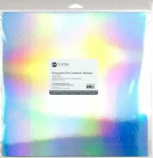 "ETC Papers Holographic Film Cardstock 12""X12"" 2/Pkg-Rainbow"