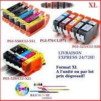 Cartouches compatibles Canon Pixma PGI CLI MG5450 MG 5470 5500 5550 5650 6300...