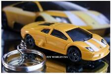 Custom Key chain Exotic Vehicle Lamborghini Murcielago yellow