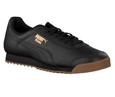 Puma Roma Classic Gum Black Team Gold 366408 02 Mens Casual Sneakers
