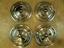 1957 CHEVROLET CHEVY BELAIR IMPALA NOMAD HUBCAPS WHEEL COVERS Set of 4 OEM USED