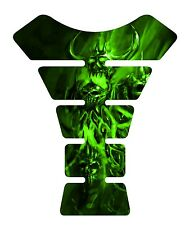 Pissed Devil Green Motorcycle 3D Gel Gas tank pad tankpad protector Decal Guard