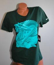 Womens Nike Cotton Graphic Tee Shirt - Green - L