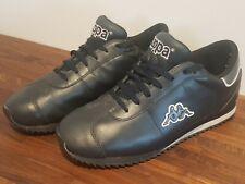 Kappa Black Faux Leather Trainers Men's UK 9 Dark Blue