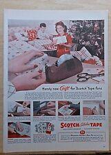 1947 magazine ad for Scotch Tape - Desk Dispenser handy gift, Christmas ad