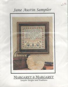 JANE AUSTIN (Austen) SAMPLER MARGARET MCKEE HUEY Margaret & Margaret X Stitch