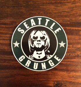 Seattle Grunge Sticker - Nirvana Soundgarden Pearljam Alice In Chains