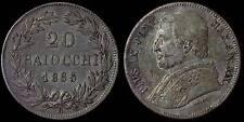 pci837) St Pontificio Pio IX  20 baiocchi 1865  AN XX TONED