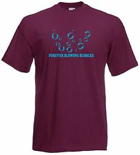 Forever Blowing Bubbles West Ham Football Club FC Soccer T-Shirt - Small to 4XL