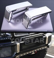 US STOCK 2x Polished Chrome Front Bumper Caps for Mercedes W463 AMG G63 G Class