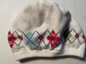 GYMBOREE SMART AND SWEET HAT 8 And Up Sweater Beanie Argyle Pink Blue