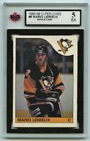 1985-86 OPC #9 Mario Lemieux RC Graded 5.0 EX (G2020-099)