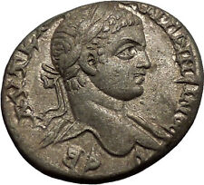 ELAGABALUS 219AD Antioch Eagle Large Authentic Ancient Silver Roman Coin i53412