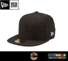 c6524c97ceb300 New Era NEWERA 59Fifty Black Fitted Baseball Cap Hat Plain 100% Original  Custom