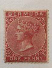 British Bermuda Stamp 1 Mint NHOG? VF (Gum V. Thin)Super Fresh & Center CV$110+