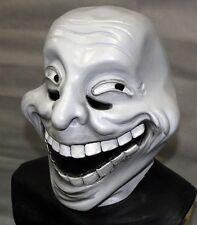 Troll Trollface Meme Clown Full Head Latex Mask Halloween Cosplay