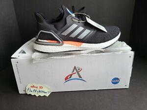 Adidas US 12 Ultraboost 20 x NASA Artemis Black/White/Orange FX7979 Space Shoes