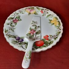 Andrea by Sadek cake plate and server Made in Japan, Excellent condition!