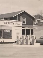 Antique Photo Pepsi HUBACHER STATIONARY GRAVITY FILL GAS STATION PA