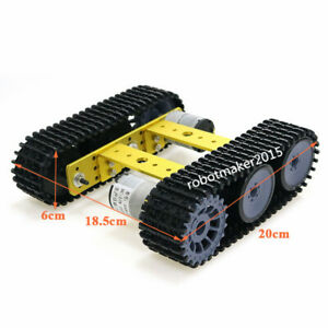 Aluminum Alloy 6WD Tracked Robot Tank Chassis for Arduino Education  Competition