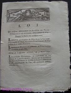 doc010 - LOI confirme la Juridiction des Patrons Pêcheurs de Cannes 1791