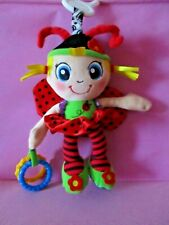 Ladybird Baby Pram Crib Activity Plush Stroller Clip on Toy