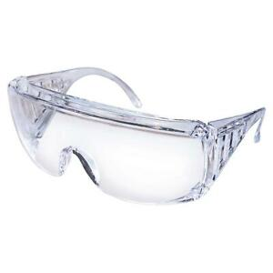 MCR SAFETY Safety Glasses Yukon 9800 Uncoated Protective Visitor Clear Eyewear