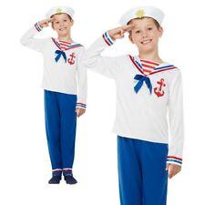 Matrose Hoher See Jungen Kostüm Marineblau Kapitän Uniform Kinder Buch Tag