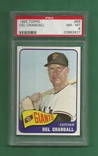 1965 Topps S.F. Giants Del Crandall # 68 PSA 8 NM-MT Low Pop