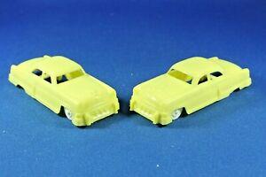 Plasticville - O-O27 - #V-6 - Original vintage Yellow Autos (2) - Excellent+++++