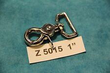 """1"""" trigger snap NICKEL pl 6ea scissor snaphook Z5015 dog leads harness strap New"""
