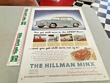 1951 HILLMAN MINX  Original Sales Advert UK
