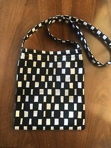 Marimekko Vintage Cross Body Black and White Canvas Bag
