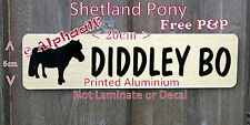 Sign Stable Door Shetland Pony Personalised Brushed Gold or Silver Aluminium