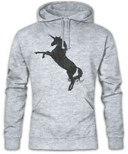 Unicorn Silhouette Hoodie Sweatshirt Cartoon Comic Look Princess Fairies Fun