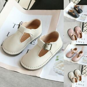 Toddler Infant Kids Baby Girl Boy Soft Leather Flat Buckle British Shoes Sandals