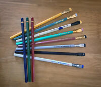 11 pencils - Palomino Blackwing Volumes & Vintage Eberhard Faber Colors
