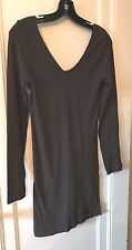 M RENA LONG SLEEVE REVERSIBLE TUNIC/DRESS BROWN ONE SIZE NEW
