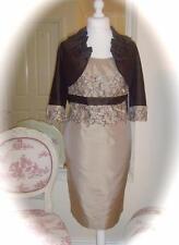 SALE Mother of Bride Linea Raffaelli Jacket & Dress, 14, Cappuccino/Dark Brown