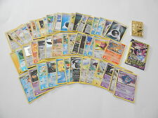 Lot of (51) Pokemon USED cards 2015 3pk Unopened & Gold Metal Card