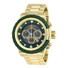 Invicta Bolt 27804 Men's Green Cable Bezel Gold-Tone Chronograph Watch