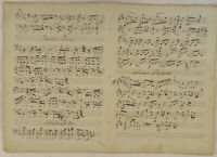 Frühlingspolka NOTEN Musik Handschrift Orig. Doppelblatt um 1790 Walzer tanzen
