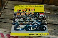 Vintage Michigan International Speedway Twin 200's Program Indy Car USAC