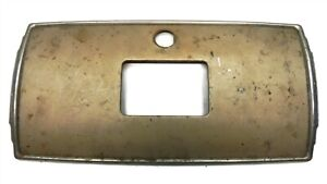1937-38 NASH ORIGINAL OEM GLOVE BOX DOOR LID W/CLOCK RING AND TRIM