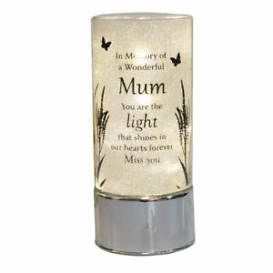 In Loving Memory Remembrance Mum Tube Light Candle Tribute Memorial Gift Plaque